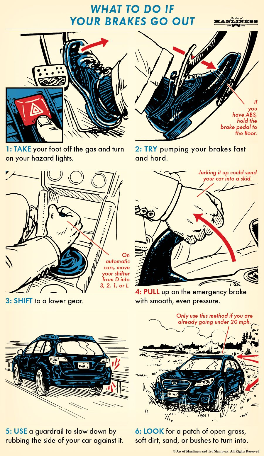 What To Do If Your Brakes Fail Survival life hacks