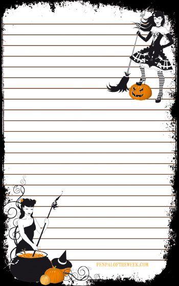 halloween stationery template