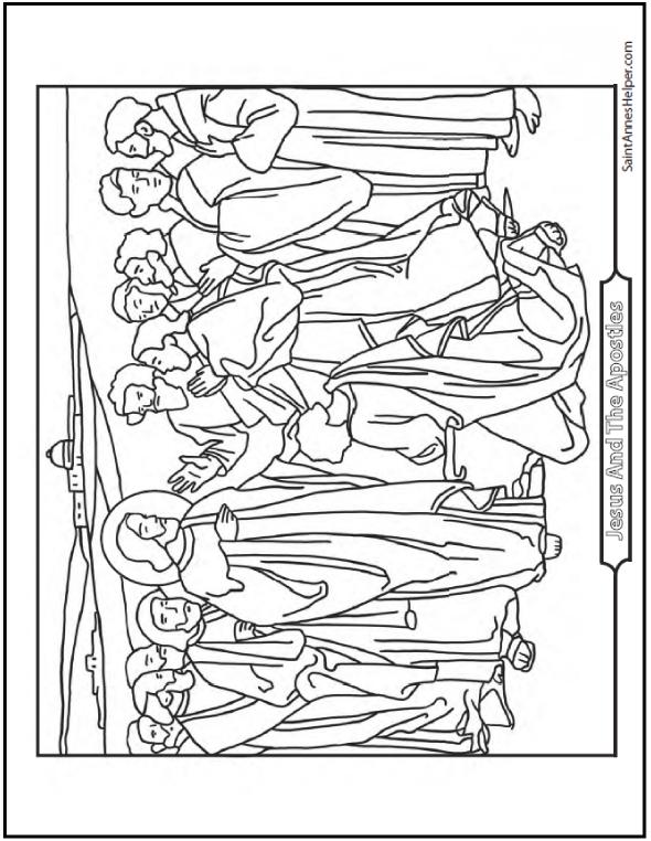 12 Apostles Of Jesus Christ Coloring Page | Bible Journaling ...