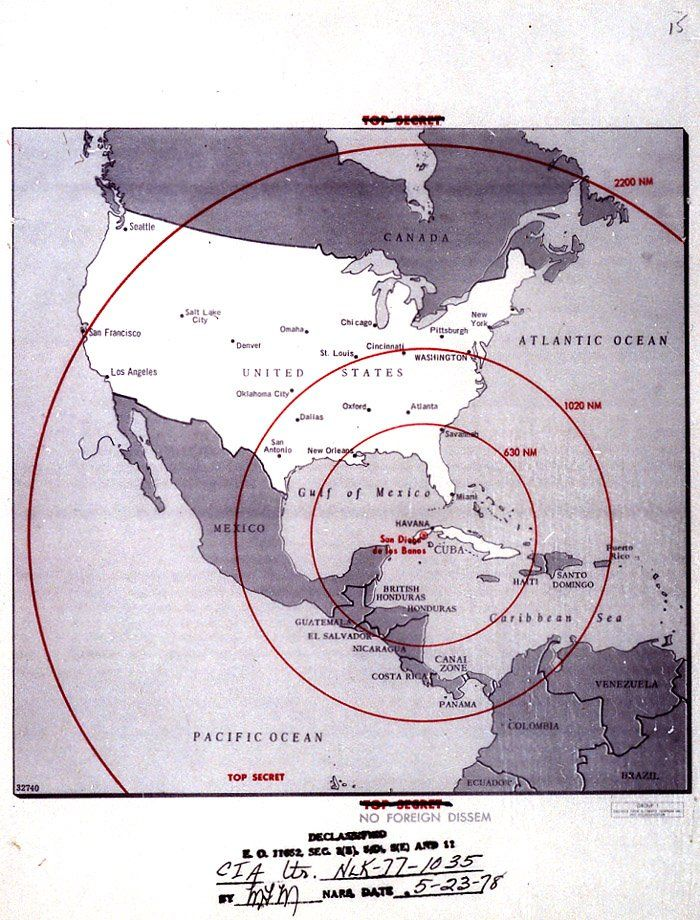 cuban missile crisis map of missile range john f kennedy presidential library museum