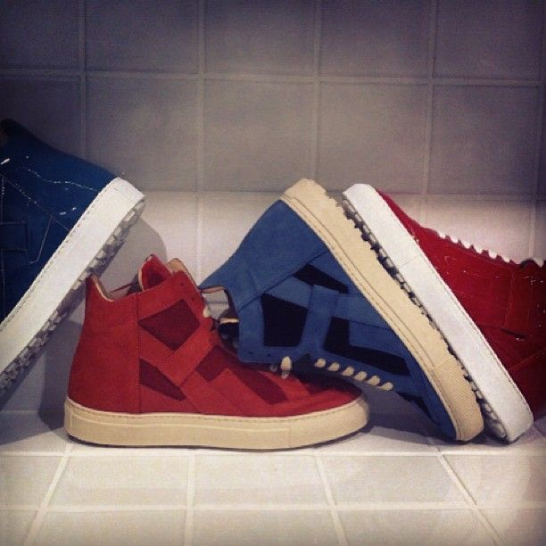 Take a look at our new high-top sneakers from the MM6 Autumn-Winter 2013 collection, now in stores. #MM6