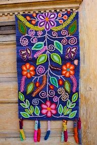 Threads of Hope azul table runner! www.threadsofhopetextiles.org