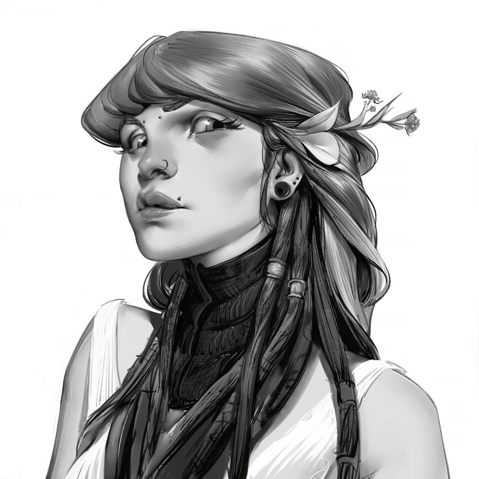 Ramona, Ayran Oberto on ArtStation at https://www.artstation.com/artwork/mnENy