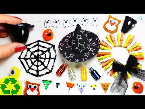 DIY Miniature Cleaning Supplies - 10 Easy DIY Miniatures - YouTube - how to make halloween decorations youtube