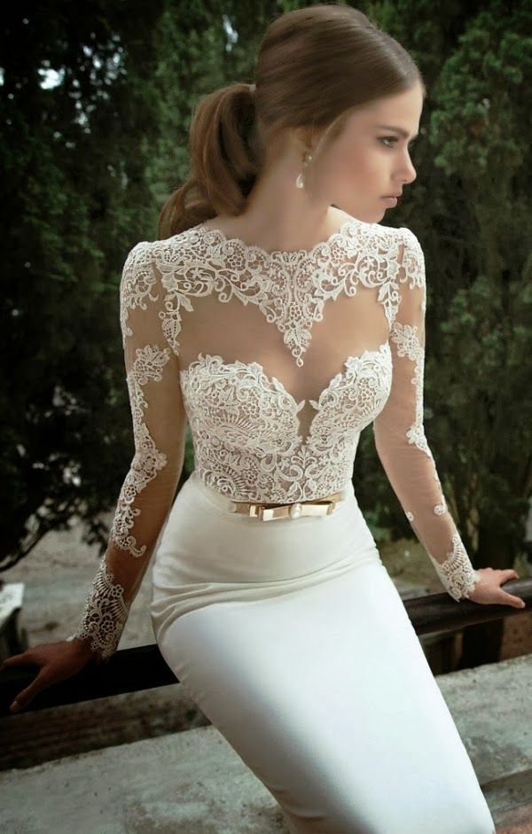 Gorgeous floral lace detail wedding dress