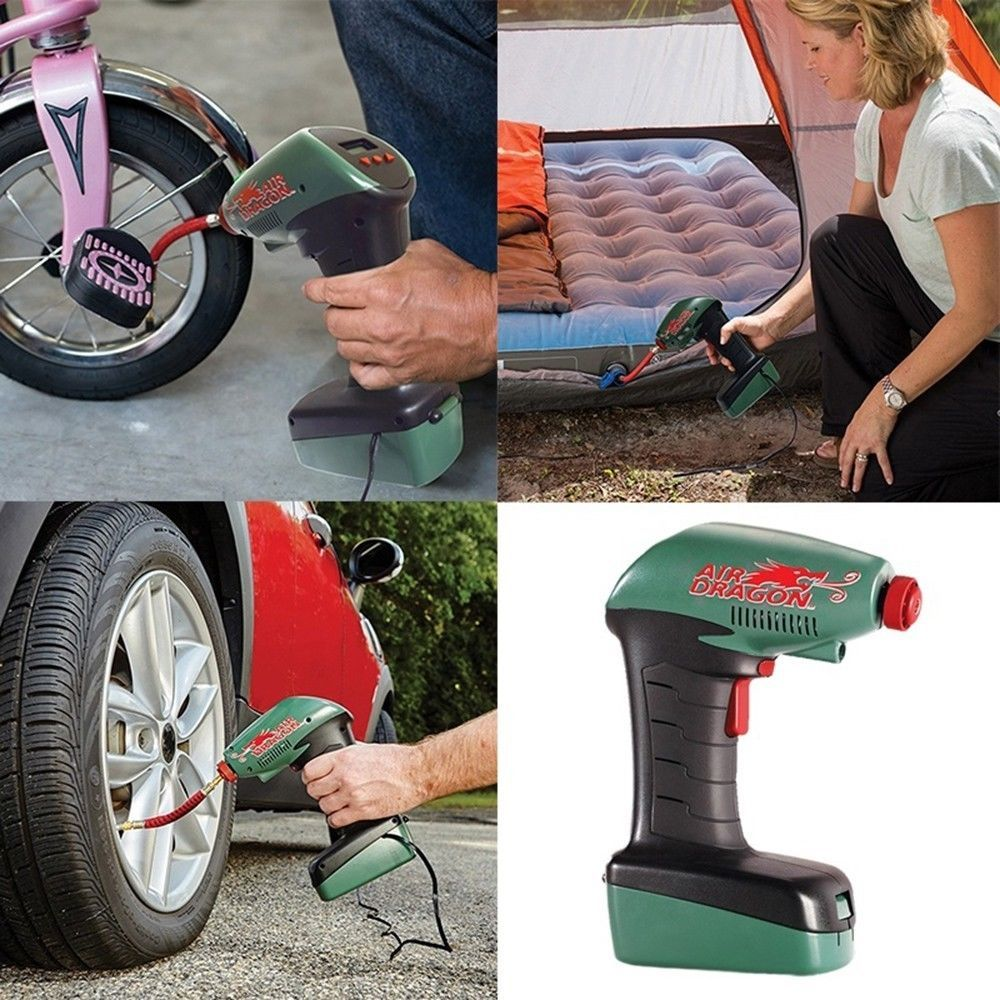 Air Compressor Tire Inflator With Gauge Portable Pressure