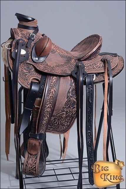D.A Brand Premium Dark Oil Leather Bucking Rolls Horse Tack