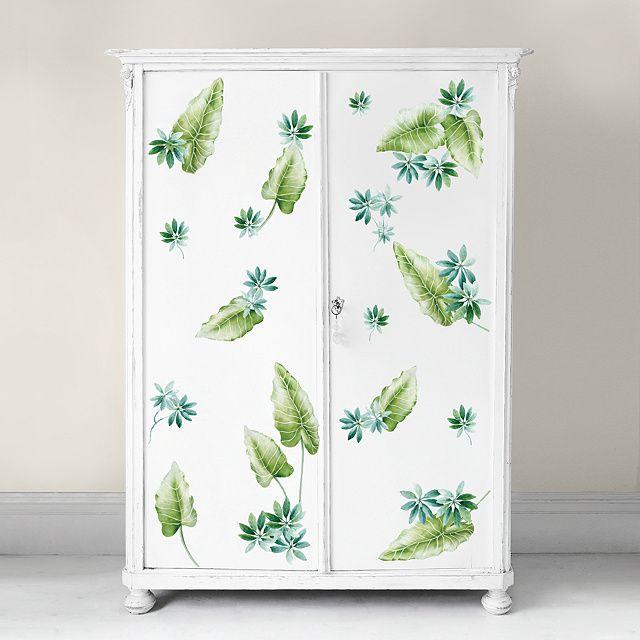 Tropical Leaves Martha Stewart – Rub On Transfer Decal