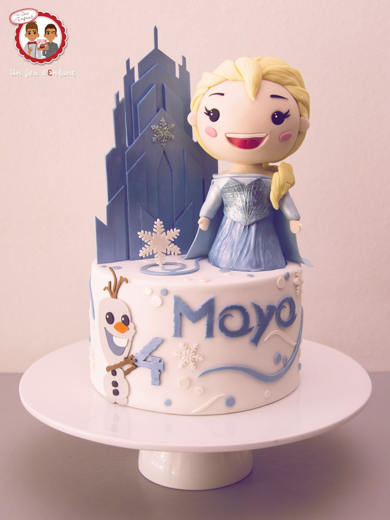 frozen elsa olaf cake gteau la reine des neiges version cute un jeu d
