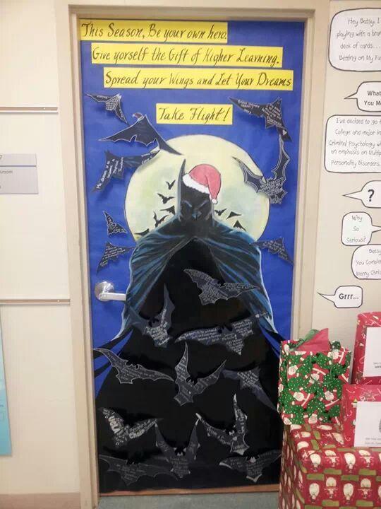 Batman Door With 3 D Bats Each Student Can Write A Goal