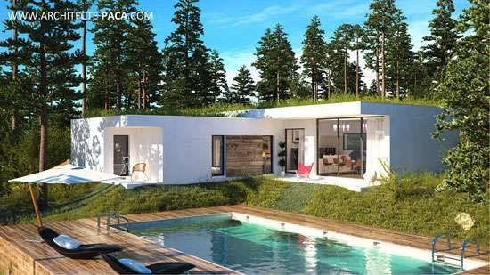 Plan Maison Contemporaine Bbc  Villa Dela Tete