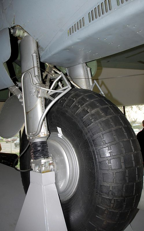 DH Mosquito main u-c detail,, RAF Museum, Hendon.