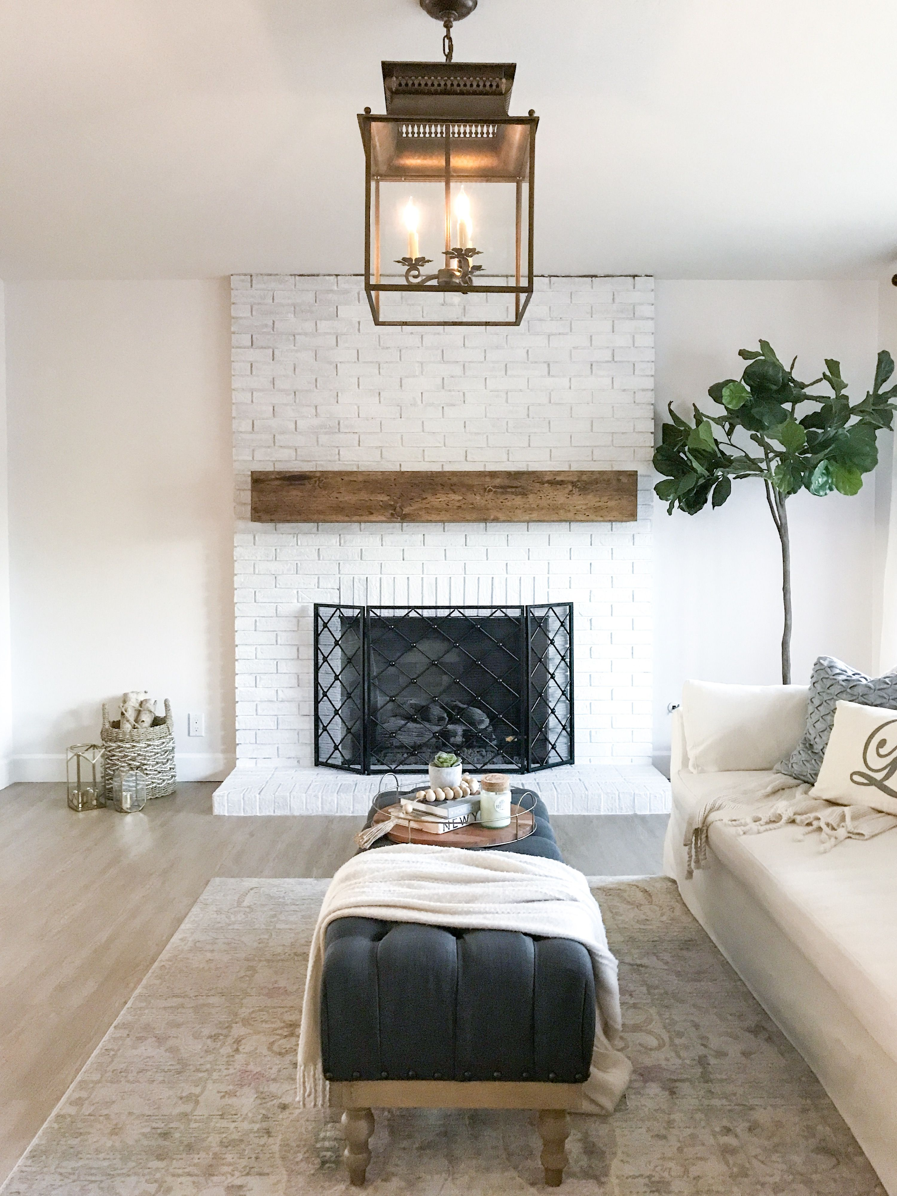 Easy affordable diy rustic wood floating mantel with