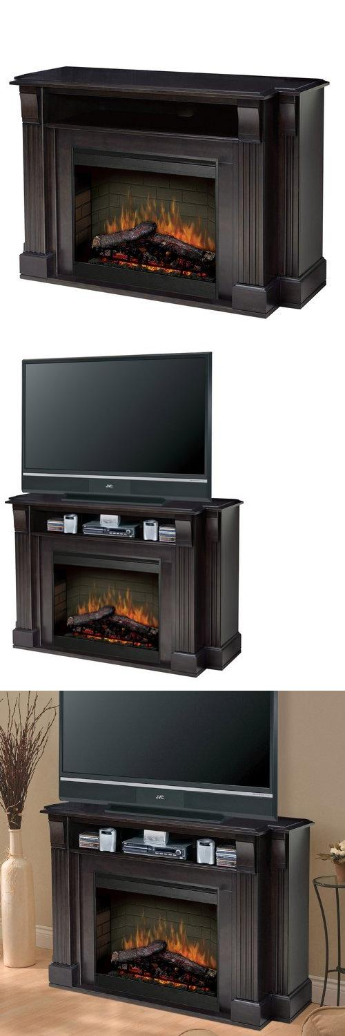 Dimplex Symphony Media Langley TV Stand with Electric Fireplace in  Espresso, The Langley Fireplace is