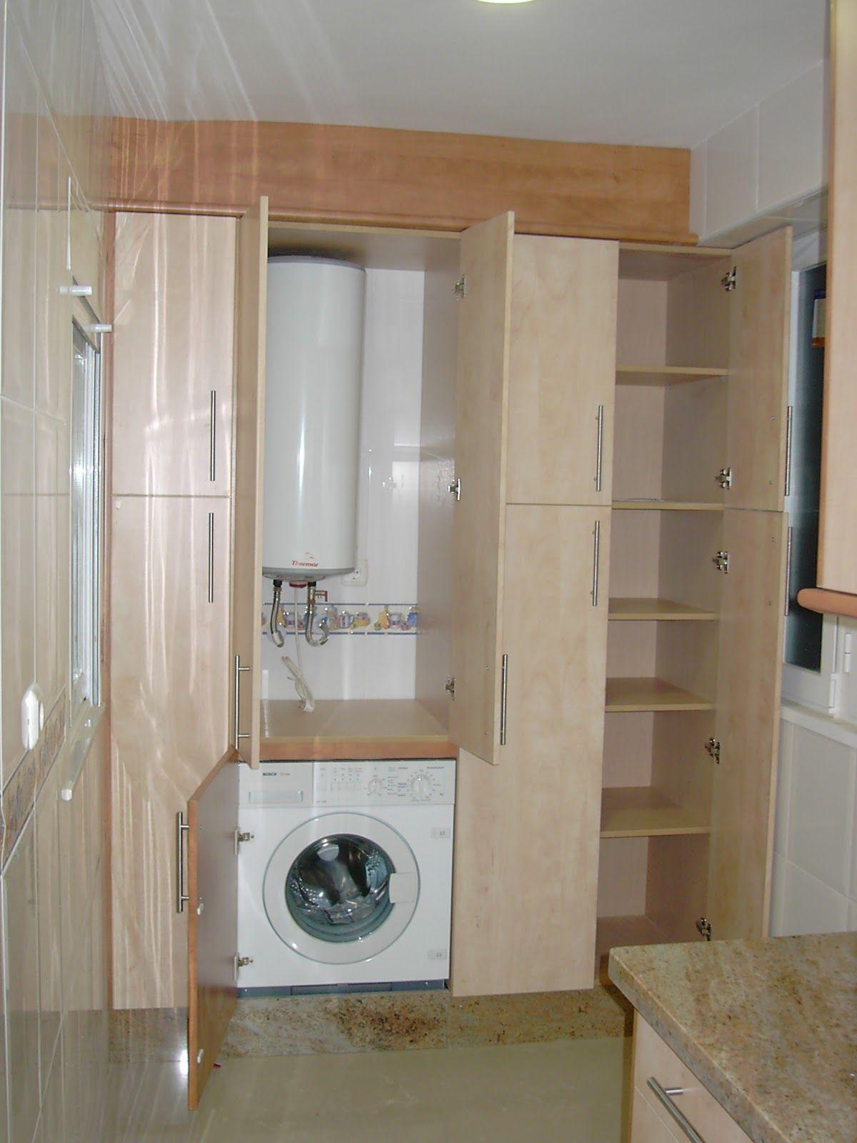 Ocultar un calentador en la cocina buscar con google lavanderias laundry in 2019 cocina - Armario para lavadora ...