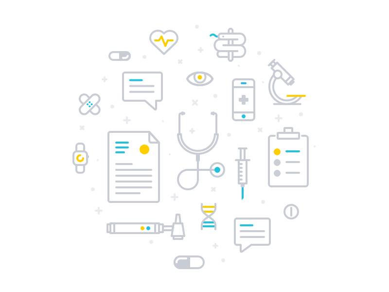 Medical Icons Pattern by Martin David #Design Popular #Dribbble #shots