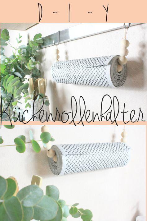 DIY Küchenrollenhalter aus Holzkugeln selber machen, ganz einfach ...