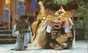tari barong tarian sakral di bali budaya seni indonesia pinterest