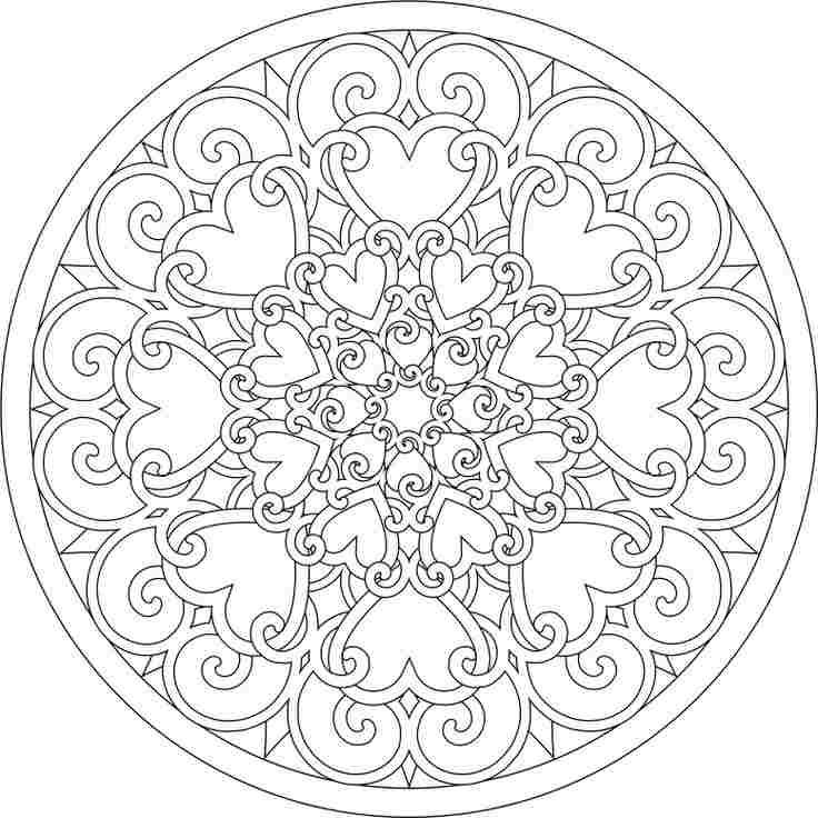 Hearts Design | Valentines Day Coloring | Pinterest