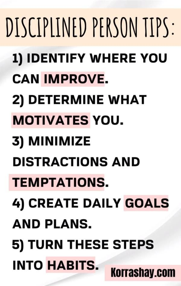 Disciplined person tips! How to be more disciplined!