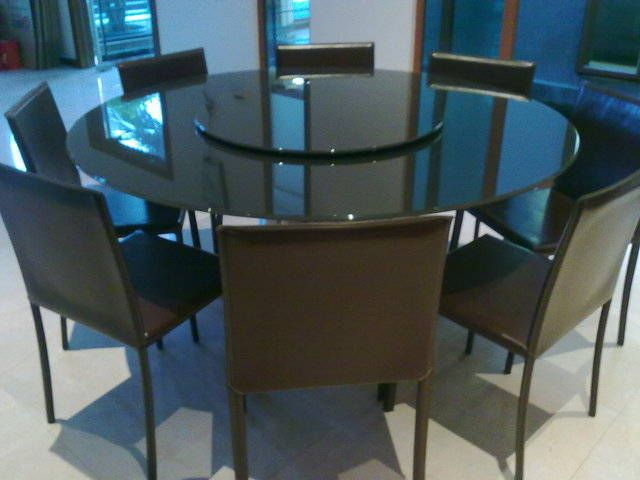 Superb Black Modern Round Dining Table For 8 Singapore