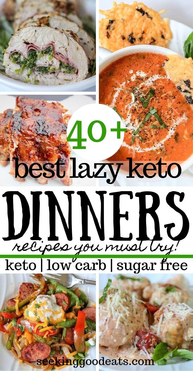 45 Easy Keto Dinner Ideas Lazy Keto Meals Seeking Good Eats Keto Dinner Keto Recipes Dinner Keto Recipes Easy