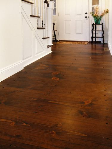 Eastern White Pine With Antique Cut Nails Traditional Wood Flooring