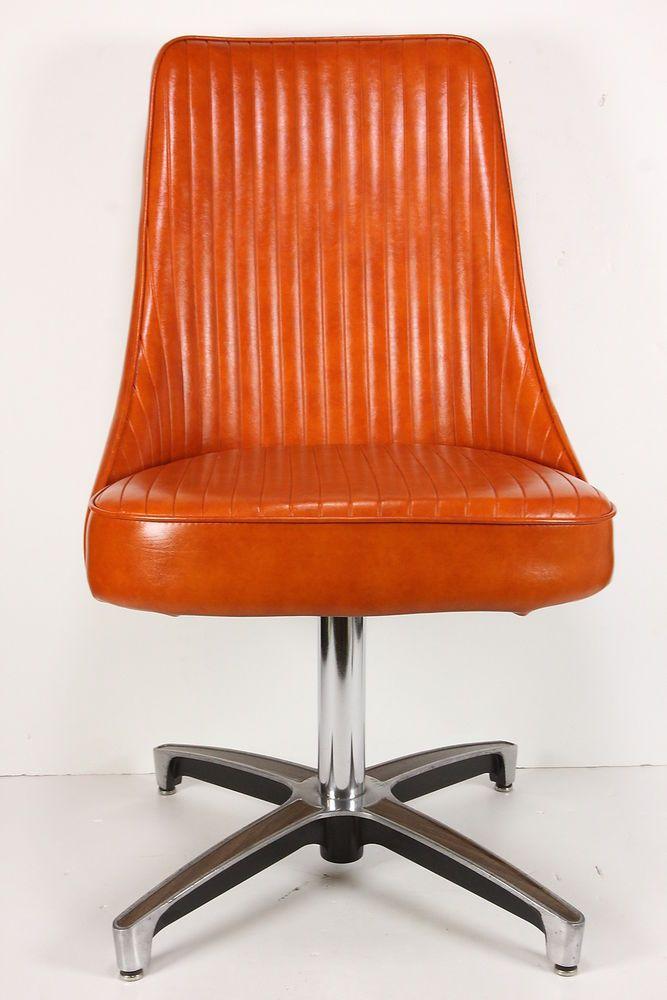 Awesome Vintage Mid Century Modern Chromcraft Swivel Chair Retro Cjindustries Chair Design For Home Cjindustriesco