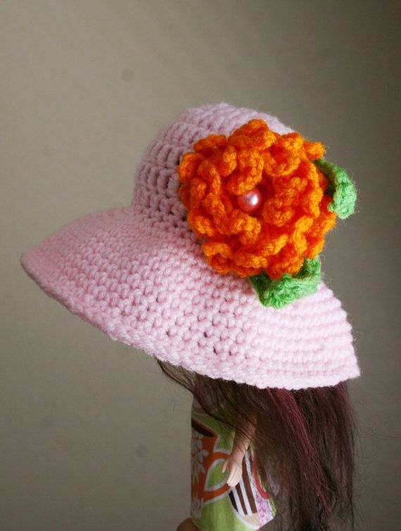Crochet Hat for Blythe Oversized Floppy Shapeable Brim by elifins