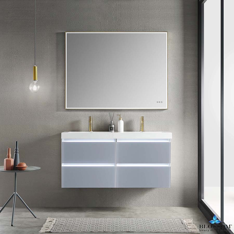 Blossom Jena 48 Inch Floating Double Bathroom Vanity Color