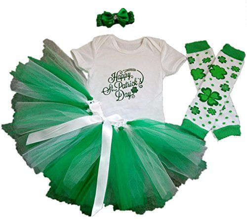 51d5cc023 AISHIONY Baby Girls 4PCS 1st St Patricks Day Tutu Outfit Newborn Party Dress  S -- AMAZON Great Sale