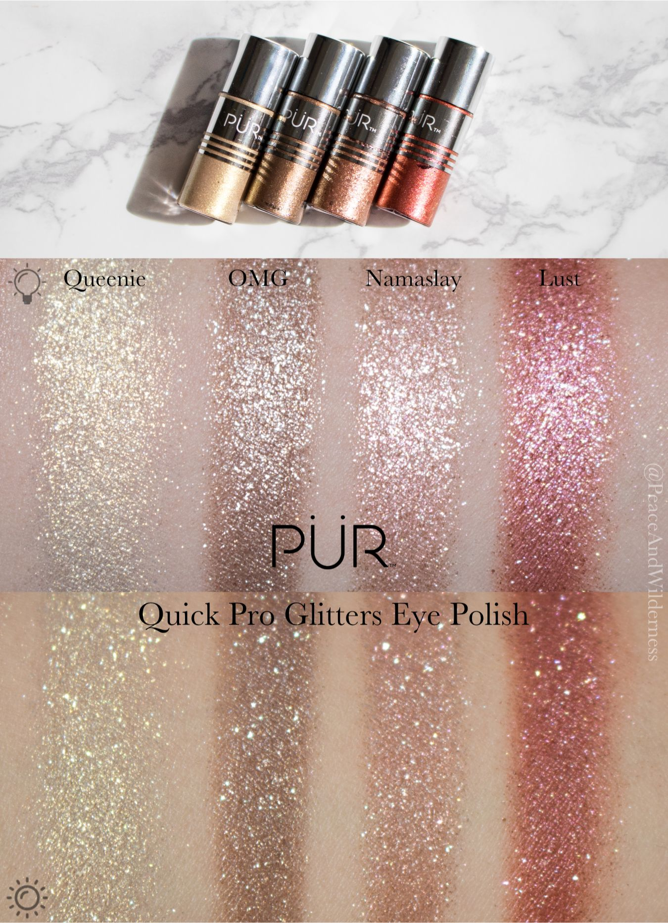 ⋆PÜR Quick Pro Glitters Eye Polish⋆glitter eyeshadow