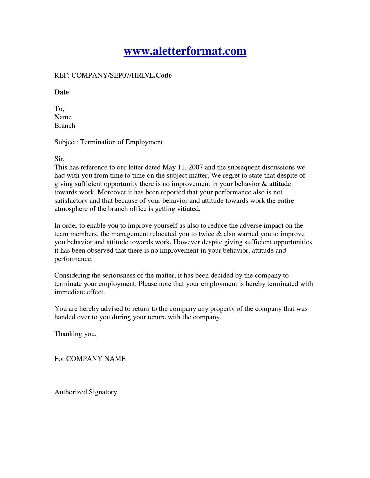 New Job Offer Cancellation Letter Letter of employment