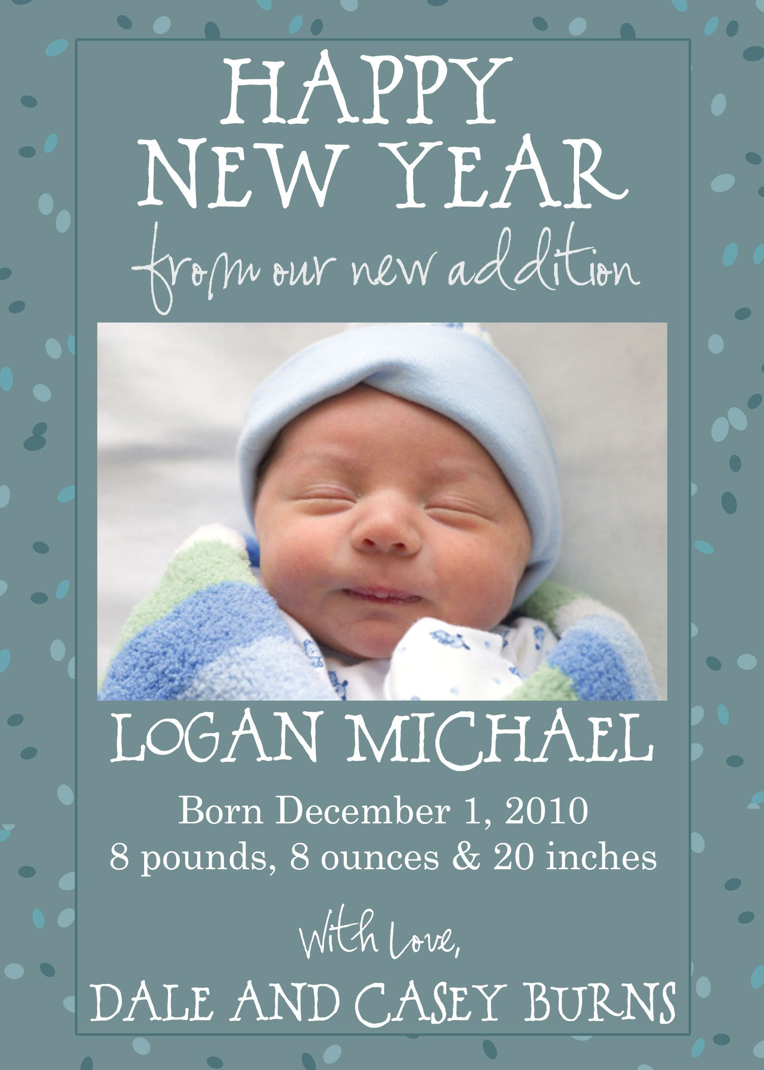 1000 images about Baby Announcements – New Years Birth Announcements