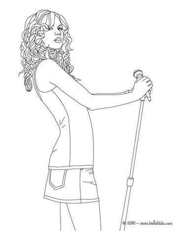Taylor Swift posing coloring page More Taylor Swift coloring