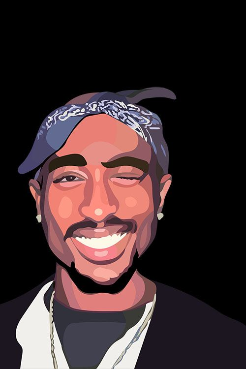 Tupac Shakur — Thank you to graceteaneyart for this