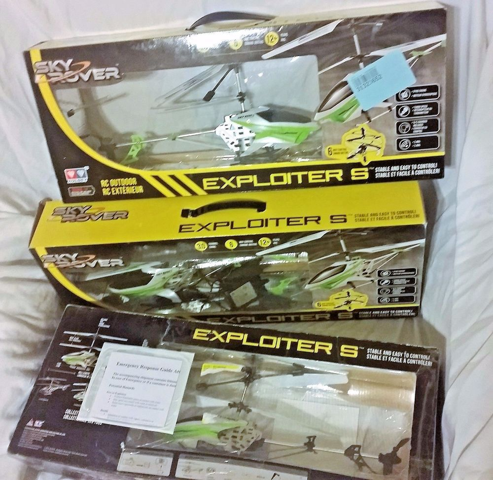 Sky Rover Rc Helicopter Exploiter S For Parts 3 Count Skyrover
