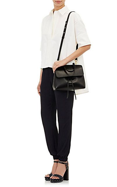 Mansur Gavriel Mini Lady Bag in Black with Oro (Gold) lining ... 0a8adf26bf41c