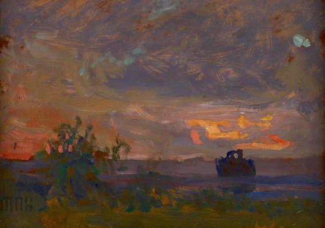 Jan Stanislawski, Wieczór / Evening on ArtStack #jan-stanislawski #art