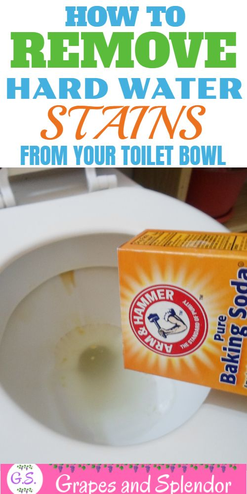 How To Remove Hard Water Stains From Toilet Bowl - Grapes and Splendor