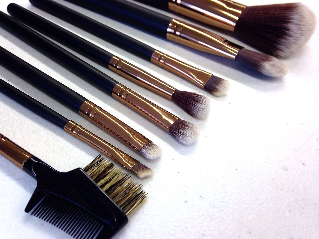 NEW Infinity brush set in a gold ferrule... http