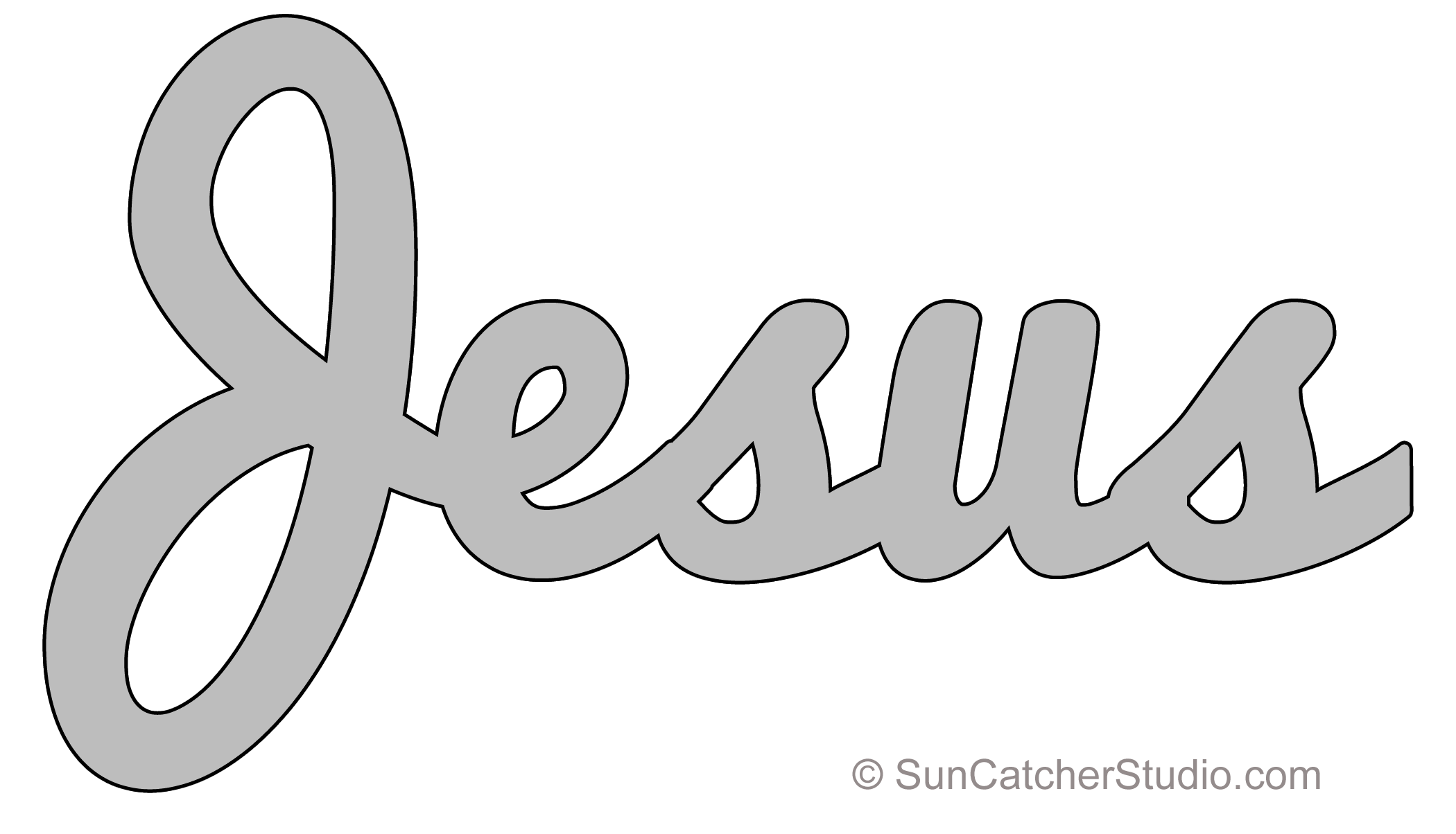 picture regarding Printable Name Stencils titled Jesus - Habit, Template, Stencil, Printable Term Artwork