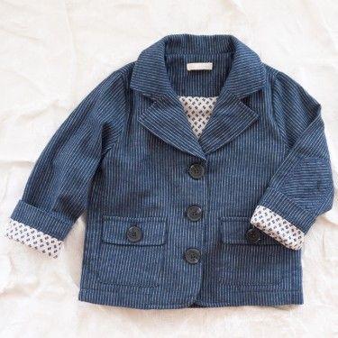 talc pinstripe flannel blazer...