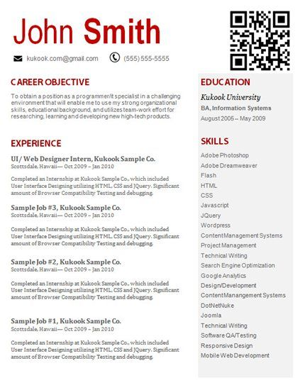 Experienced Level IT Resume Template #8 Resumes Pinterest - sample resume experienced