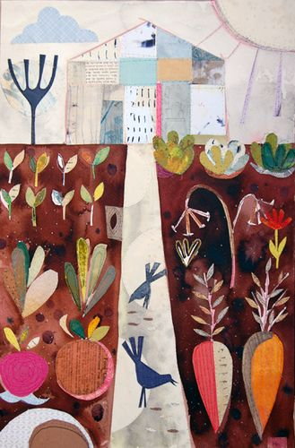 'Up the Garden Path' print by Helen Hallows
