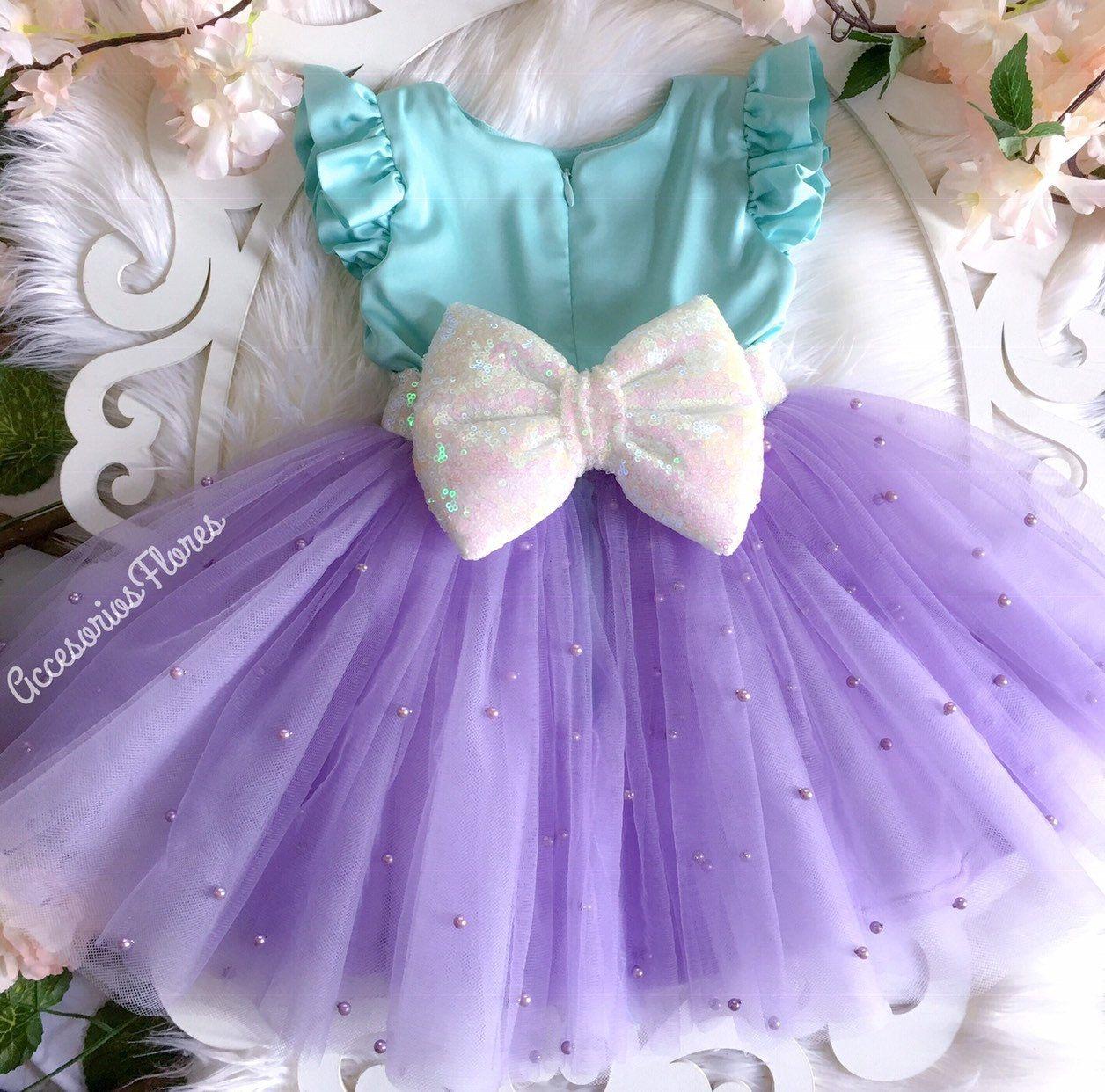 Ariel Vestidopequeño Vestido De Sirena1er Traje De Etsy