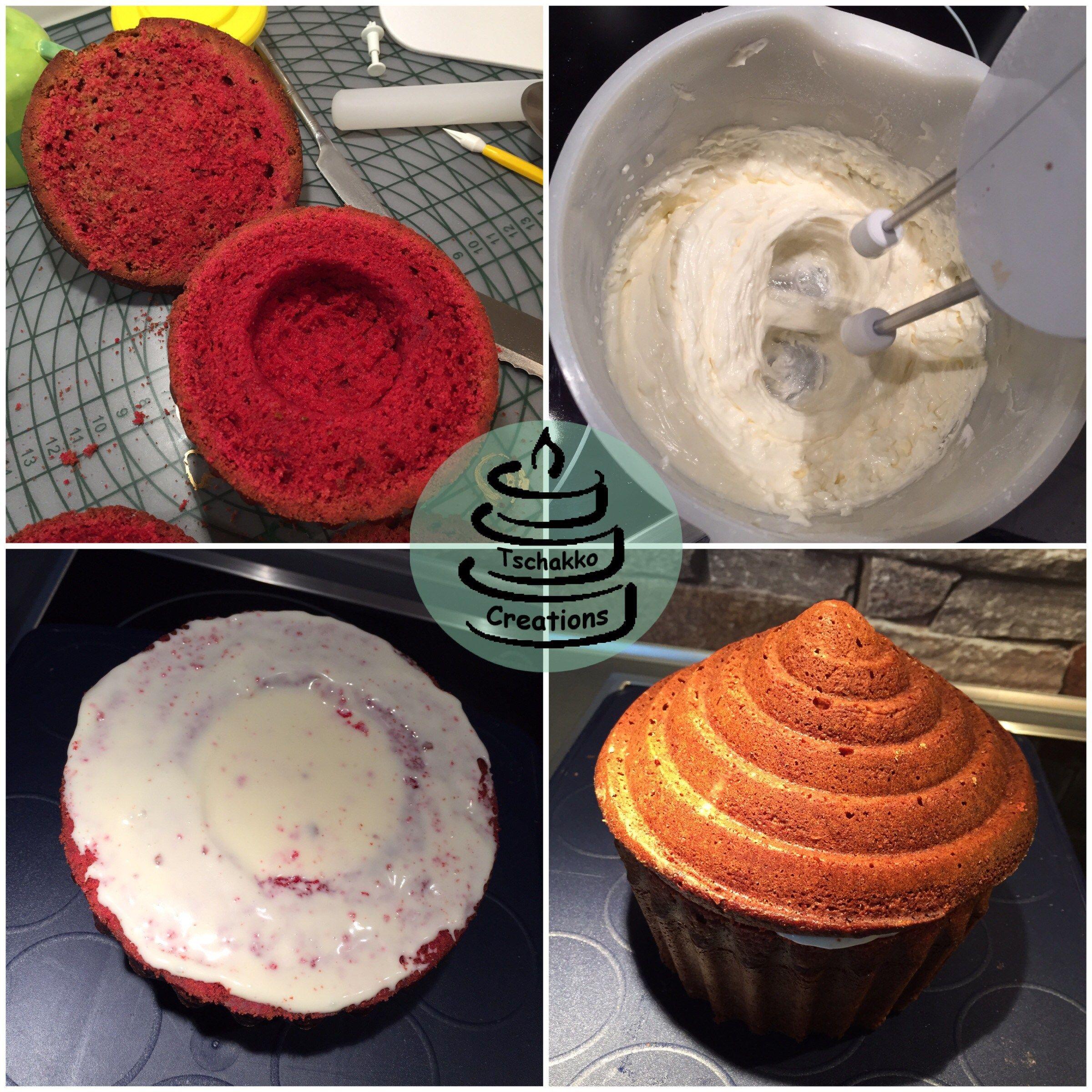 Es ist wieder an der Zeit gewesen, einen riesen Cupcake zu backen ...
