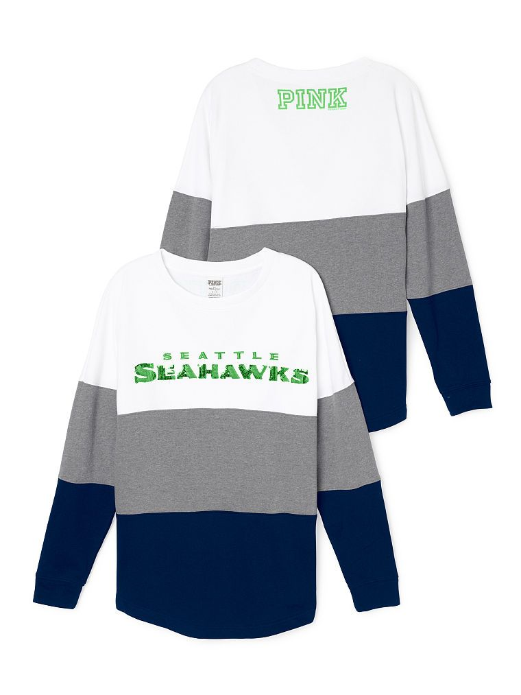 Seattle Seahawks Varsity Crew £45.94 - PINK - Victoria s Secret ... 29e988c32