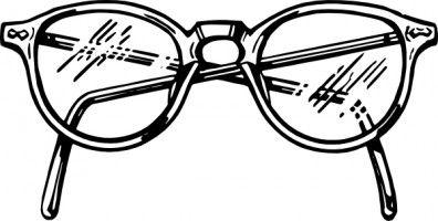 Glasses white. Clip art eye free