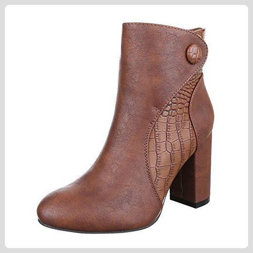 Ital Stiefeletten Design Damen Schuhe Klassische SUpGLVMqz